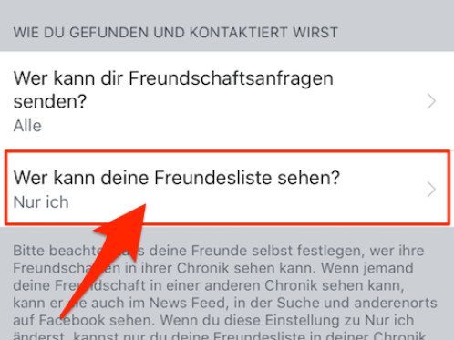 Facebook Freundesliste Anzeigen