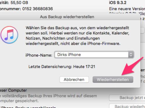 Iphone  Deaktiviert Daten Retten