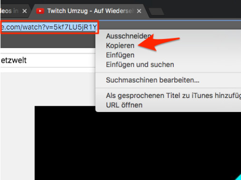 wie man youtube Video auf PC kopiert