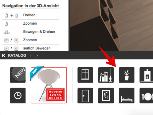 roomeon so entsteht die innenausstattung mit dem 3d. Black Bedroom Furniture Sets. Home Design Ideas