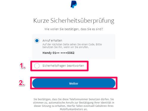 Paypal Sicherheitscode
