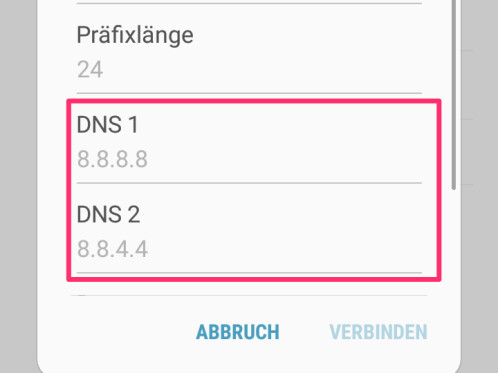 how to change dns on android tablet