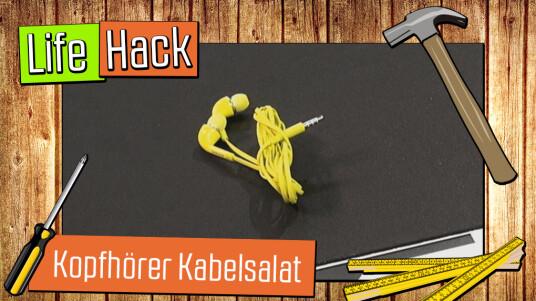 Life Hacks: Nie wieder Kopfhörer Kabelsalat