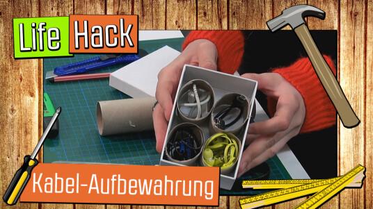 Live-Hack: Kabel-Aufbewahrung