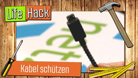 Live-Hack: Kabel schützen