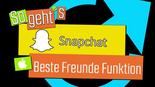 Snapchat für iOS: Beste Freunde Funktion
