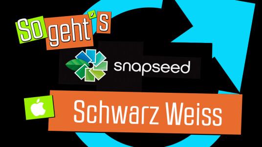 Snapseed: SchwarzWeiss