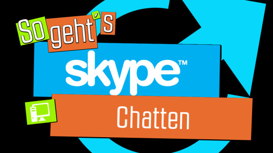 So geht's Skype: Chatten