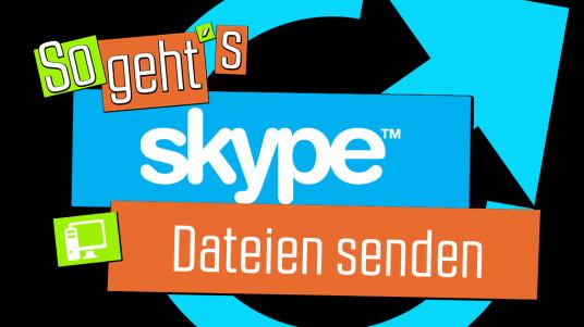 So geht's Skype: Dateiensenden