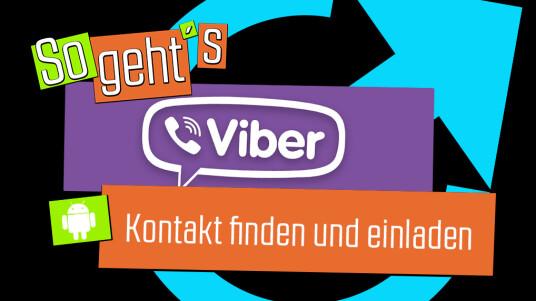 Viber: Kontakt finden und einladen