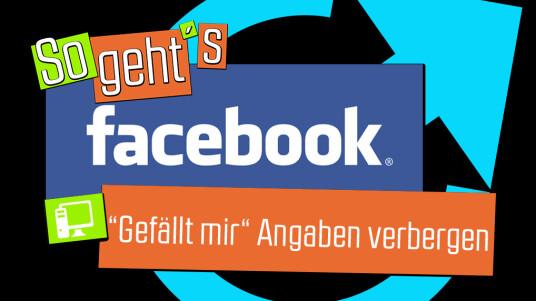 """Facebook: """"Gefällt mir""""-Angabe verbergen"""