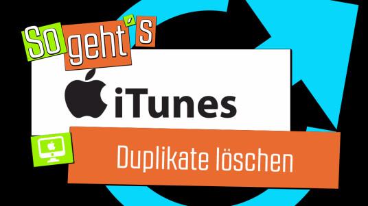 iTunes: Duplikate löschen