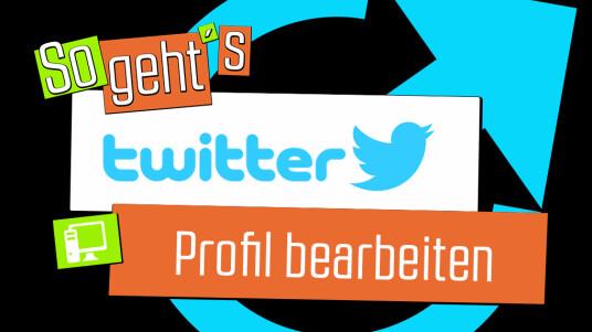 Twitter: Profil bearbeiten