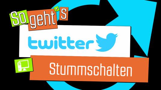 Twitter: Stummschalten