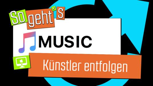Apple Music: Künstler entfolgen