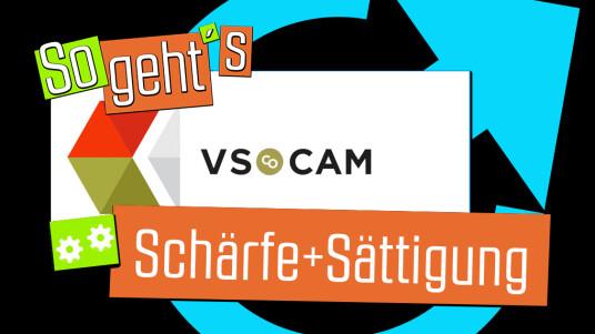 VSCO Cam: Schärfe+Sättigung
