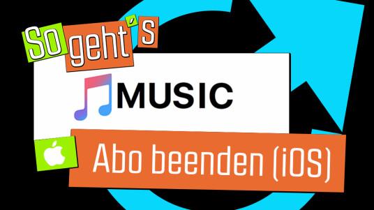 Apple Music: Abo beenden (iOS)