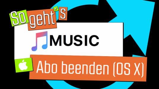Apple Music: Abo beenden (OS X)