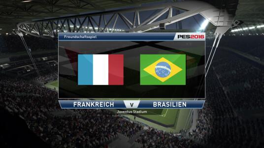 PES 2016 Demo: Frankreich gegen Brasilien