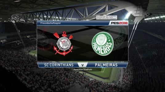 PES 2016 Demo: SC Corinthians gegen Palmeiras