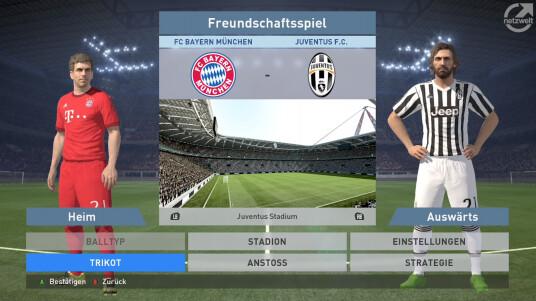 PES 2016: Juventus gegen Bayern München