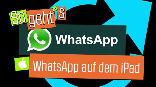 So geht's: WhatsApp auf dem iPad