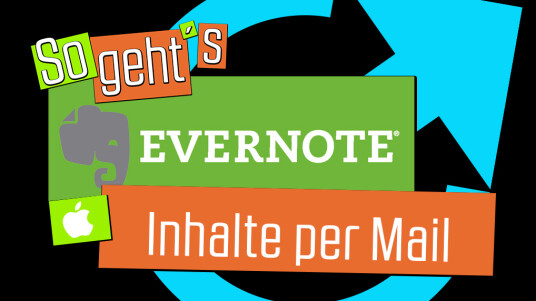 Evernote: Inhalte per Mail