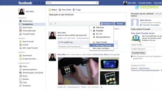 Mithilfe von Freundeslisten können Sie besser koordinieren, welchen Facebook-Bekanntschaften Sie welche Posts öffentlich machen wollen. Netzwelt zeigt, wie Sie eine Liste erstellen.