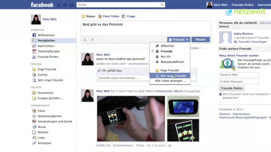 So geht's: Facebook - Freundesliste erstellen