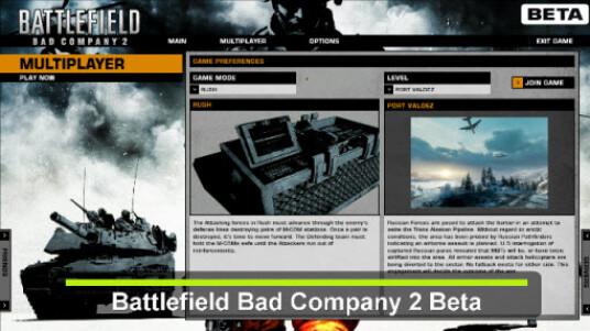 Beta-Test Battlefield Bad Company 2