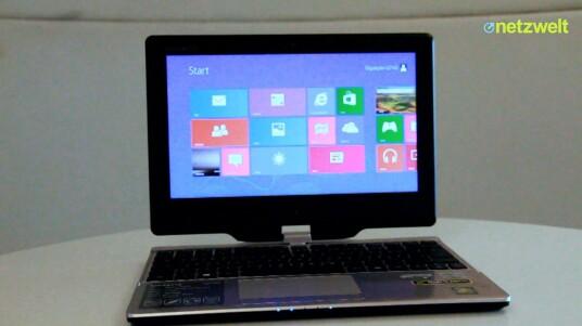 Das Gigabyte U2142 ist Tablet und Ultrabook in einem Gerät. Besonderheit: Mit einem Gewicht deutlich unterhalb von 1,4 Kilogramm ist es dazu noch ein echtes Fliegengewicht. Im Test missfallen aber vor allem die Eingabegeräte.