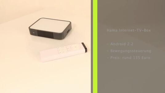 Der kleine Kasten bringt Internet auf den Fernseher, Anschluss finden aber nur TV-Geräte mit HDMI-Schnittstelle. Zur Steuerung dient eine bewegungssensitive Fernbedienung. Installiert ist Android in der Version 2.2.