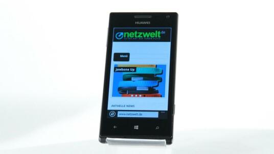 Das Huawei Ascend W1 ist das erste Smartphone des chinesischen Herstellers mit Microsofts Handy-OS Windows Phone 8.
