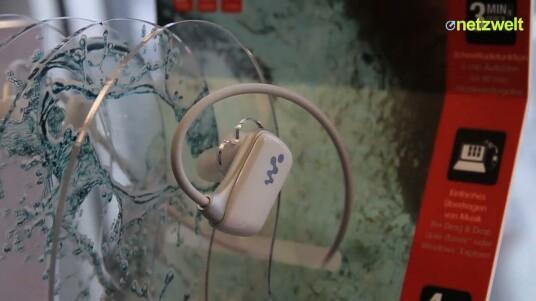 Sonys wasserfester MP3-Player und NFC-Lautsprecher im Kurztest