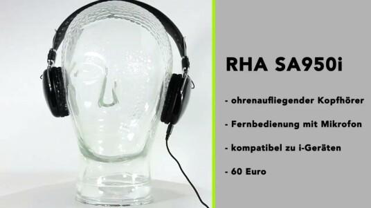 Zum Preis von knapp 60 Euro bietet der RHA SA950i einen guten Klang. Materialwahl und Verarbeitung können hingegen nicht auf ganzer Linie überzeugen.   (Musik: