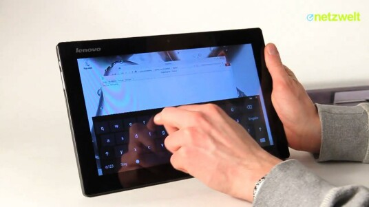 Größer als ein iPad und dennoch wesentlich leichter: Mit dem IdeaTab Lynx hat Lenovo ein echtes Windows-8-Fliegengewicht im Programm. Während das Tablet im Test überzeugt, fällt die zugehörige Tastatur glatt durch.
