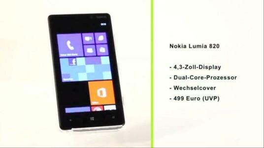 Mit dem Nokia Lumia 820 präsentiert der finnische Handyhersteller ein Mittelklassen-Smartphone mit dem neuen Windows Phone 8.