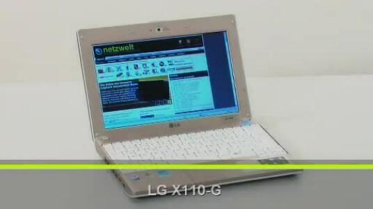 Das LG X110-G ist ein besonderer Blickfang. In dem schicken weißen Gehäuse  steckt ein Intel Atom N270 mit 1,6 Gigahertz und einem Gigabyte Arbeitsspeicher für günstige 420 Euro.