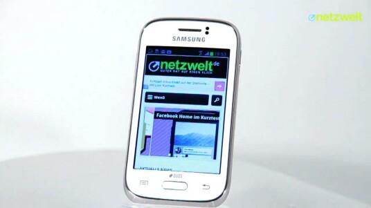 Das Samsung Galaxy Young Duos ist ein Dual-SIM-Smartphone im Mini-Format.