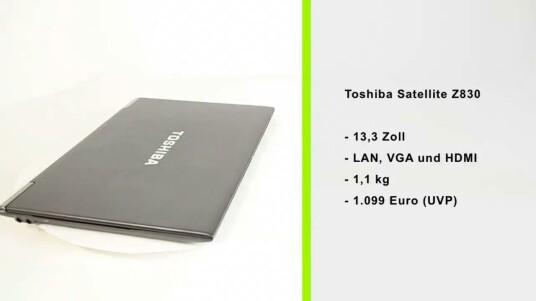 Leichtes und flaches Ultrabook mit clever platzierten LAN- und VGA-Anschlüssen.