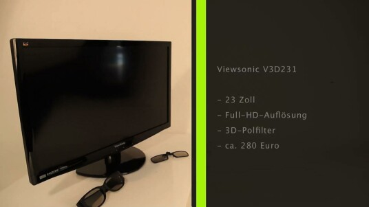 Für diesen 23 Zoll großen 3D-Monitor benötigt der Nutzer nur eine leichte und günstige Polfilter-Brille, die Ansprüche an die Hardware fallen ebenfalls geringer aus, als bei anderen 3D-Technologien.