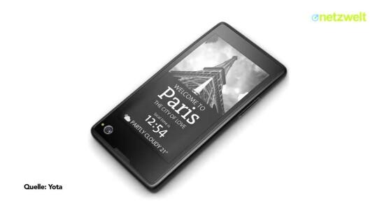 Auf dem MWC präsentiert Yota Devices ein Smartphone mit einem LC- und einem E-Ink-Display. Netzwelt hat sich das ungewöhnliche Gerät genauer angeschaut.