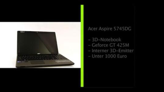 Das Acer Aspire 5745DG ist eines der weltweit ersten 3D-Notebooks. Netzwelt hatte die Gelegenheit, der noch sehr jungen 3D-Technik mit Hilfe eines seriennahen Prototypen eine ganze Woche lang auf den Zahn zu fühlen.