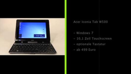 Windows-Tablets sind derzeit noch ein Nischenprodukt, so dass Acer gut daran tut, dass Iconia Tab W500 mit einer optionalen Tastatur in ein Netbook zu verwandeln.