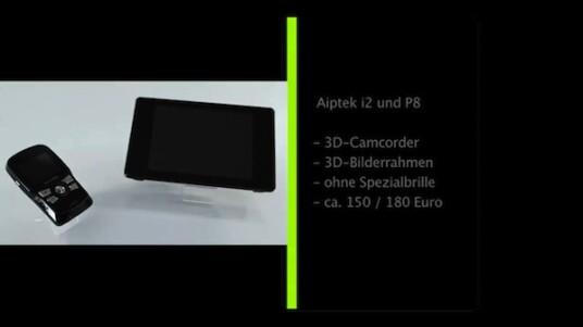 3D-Filme und Fotos zum günstigen Preis: Aiptek bietet mit dem i2 einen 3D-Pocketcamcorder und mit dem P8 gleich den passenden digitalen Bilderrahmen an. Die Bildschirme beider Geräten zeigen auch ohne Spezialbrillen 3D-Ansichten.