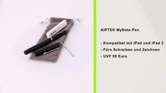 Der MyNote Pen von AIPTEK ist ein Stylus fürs Schreiben und Zeichnen auf dem iPad und dem iPad 2. Im Test gelang das Verfassen kurzer Notizen noch ganz gut. Für präzises Zeichnen eignet sich der MyNote Pen des taiwanischen Herstellers jedoch nicht.