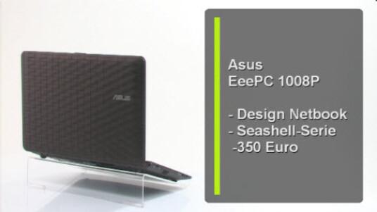 Das Designer-Netbook von Asus ist von dem amerikanischen Designer Karim Rashid gestylt. Neben der optischen Veränderung ist Asus das 1008P etwas flacher und leichter als die bisherigen Pine-Trail-Modelle des Herstellers.