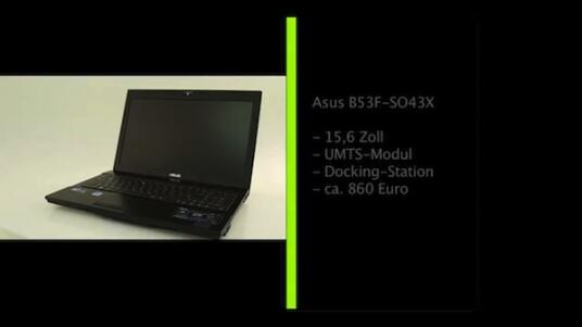 Schreibtisch, Termine und Besprechungen sind die Einsatzorte des B53F von Asus. Das Office-Notebook verfügt über einen entspiegelten Bildschirm und überzeugt als Arbeitsgerät und nicht bei der Freizeitgestaltung.