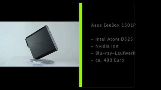 Kleines Gehäuse mit flotter Hardware und Blu-ray-Laufwerk: Die Asus EeeBox eignet sich sowohl als Media-Center im Wohnzimmer und auch als kleiner Rechner auf dem Schreibtisch.