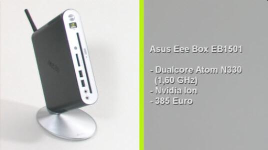 Die Eee Box EB1501 von Asus zeigt, dass sich der Hersteller die Kritik am bereits sehr guten Vorgängermodell zu Herzen genommen hat: Der neue Nettop verfügt nun über ein optisches Laufwerk und bietet nahezu alle gängigen Schnittstellen. Die Eee Box EB1501 kostet bei Internethändlern derzeit nur 385 Euro.